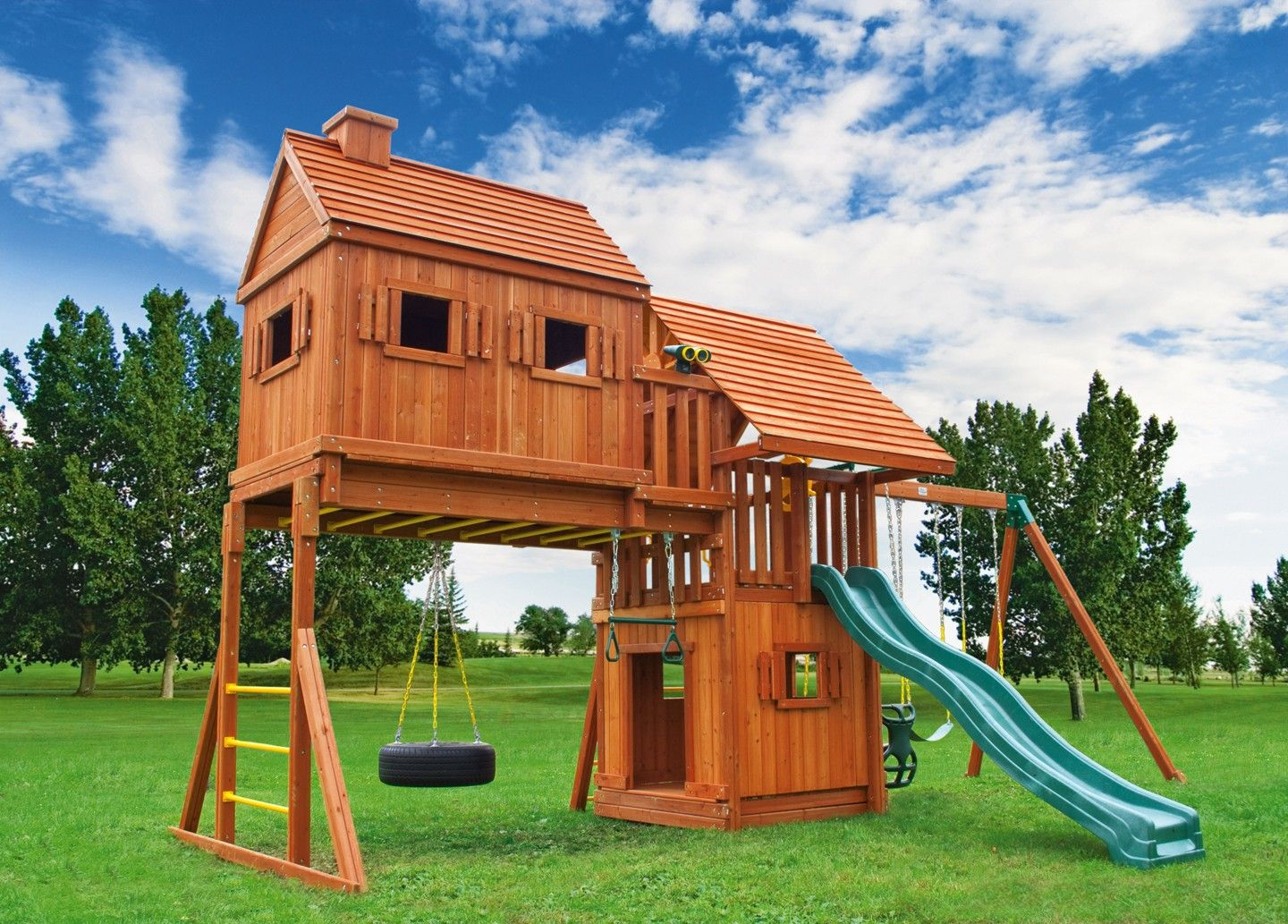 fantasy tree house 4 swing set tree houses clubhouses and swings