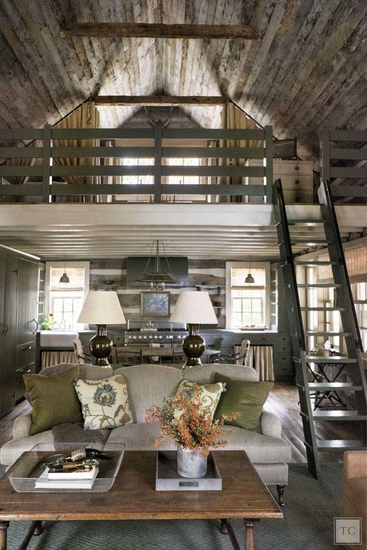 House Tour Chic Sewanee Cabin Style House Tours Cabin And  # Muebles Caon Canada De Gomez