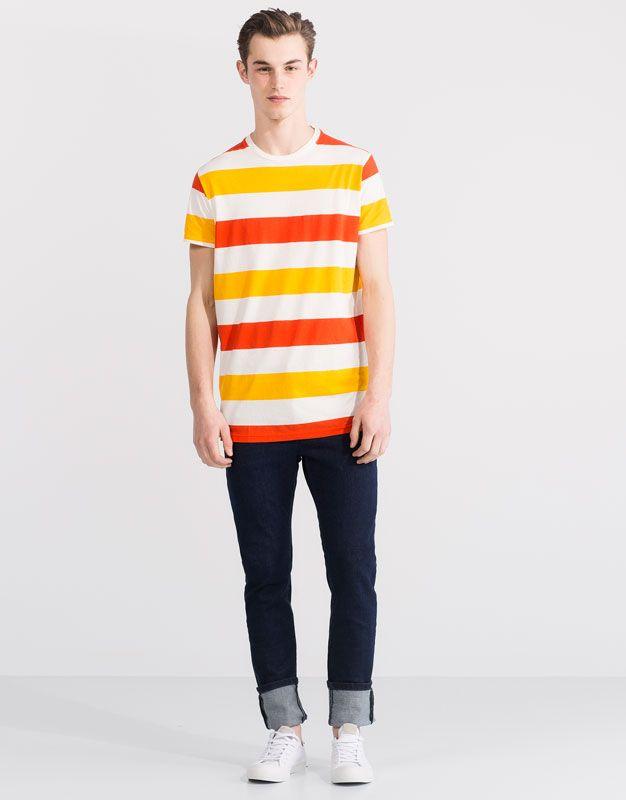All Over Print T Shirt T Shirts And Polo Shirts Man Pull Bear Turkey Mens Polo Shirts Print T Shirt Shirts