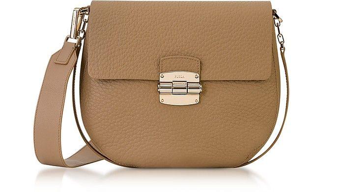 070a5673aca5 FURLA Club S Cappuccino Pebble Leather Crossbody Bag.  furla  bags   shoulder bags  leather  crossbody