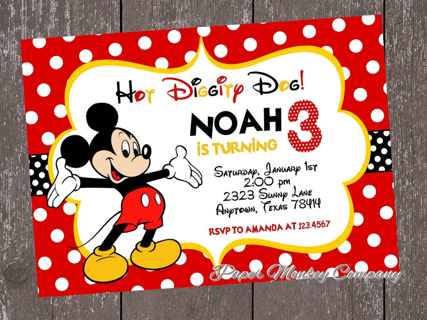 Mickey Mouse Clubhouse Invitations Free Printable | Ideas for the ...