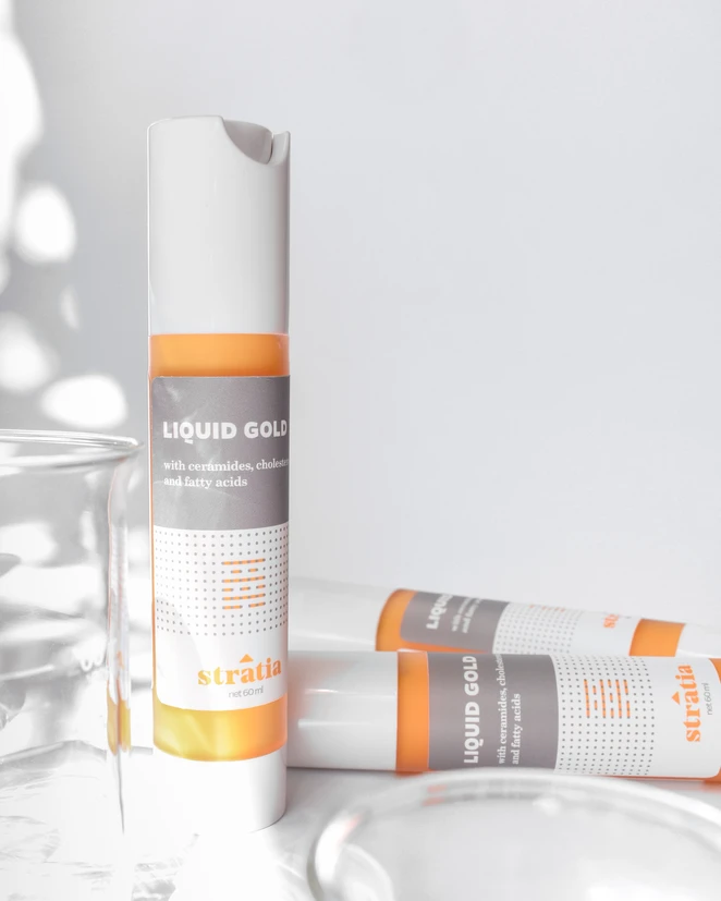Liquid Gold, a lightweight but powerful skin strengthening