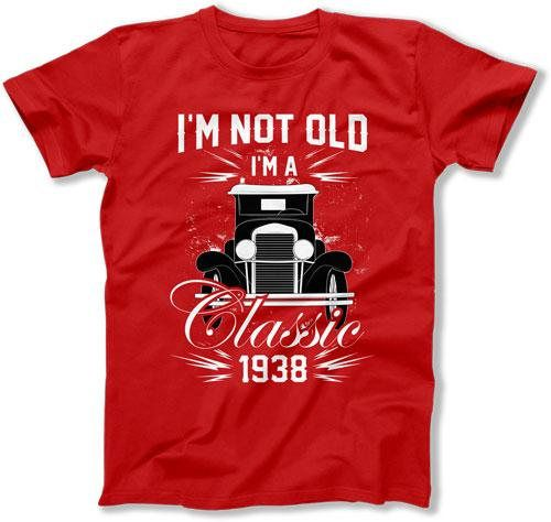 80th Birthday Gift Ideas For Men Personalized T Shirt Custom TShirt Bday Present Im Not Old A C