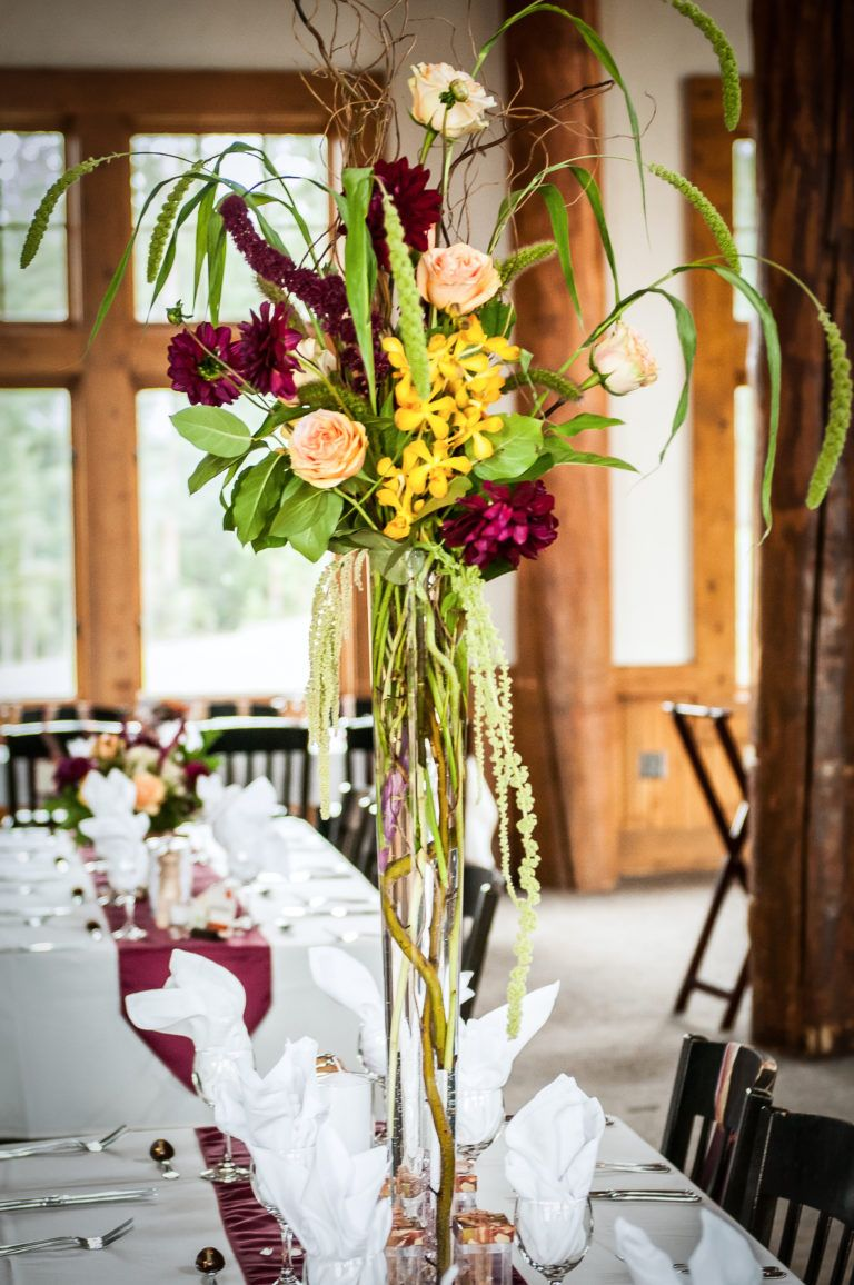 Fall Themed Mountain Wedding Centerpieces Simple Weddings And Wedding