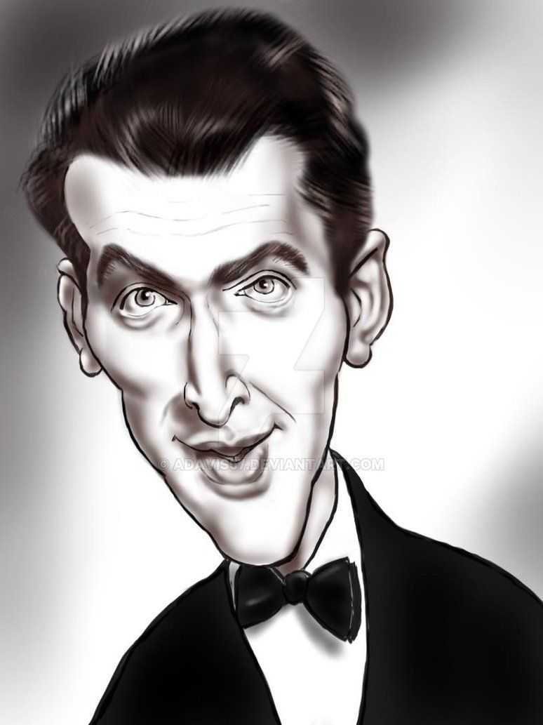 jimmy stewart by adavis57 caricatures2 pinterest caricature celebrity caricatures and. Black Bedroom Furniture Sets. Home Design Ideas
