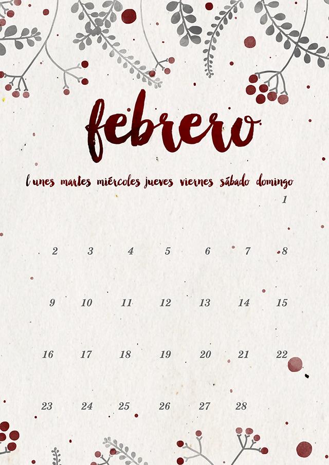 Calendario Dibujo Png.Calendario Febrero Imprimible Y Fondo Milowcostblog