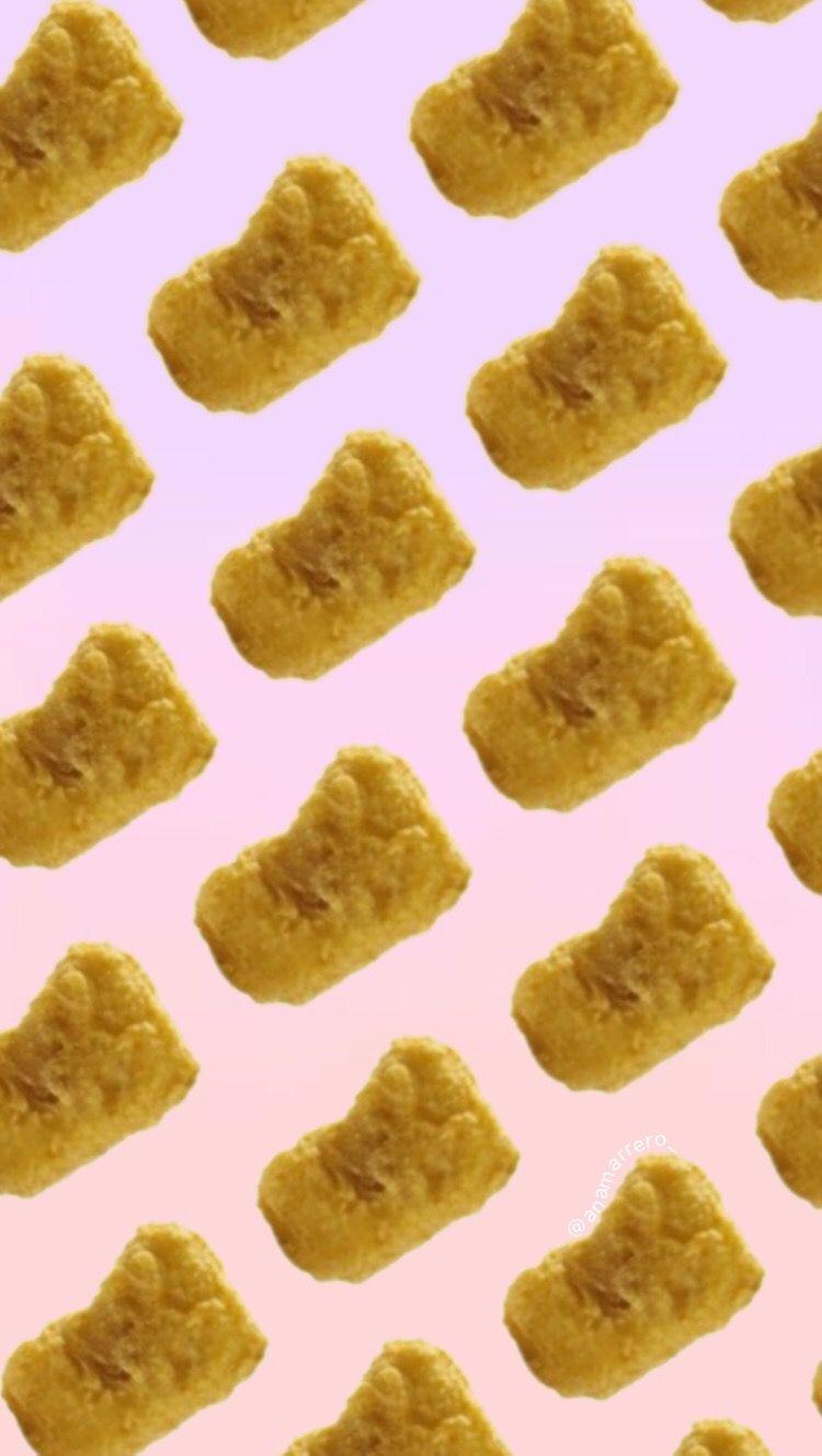 Cute Chicken Nugget Wallpaper Chicken Nuggets Wallpaper Background Mcdonald S Food Ombr 233