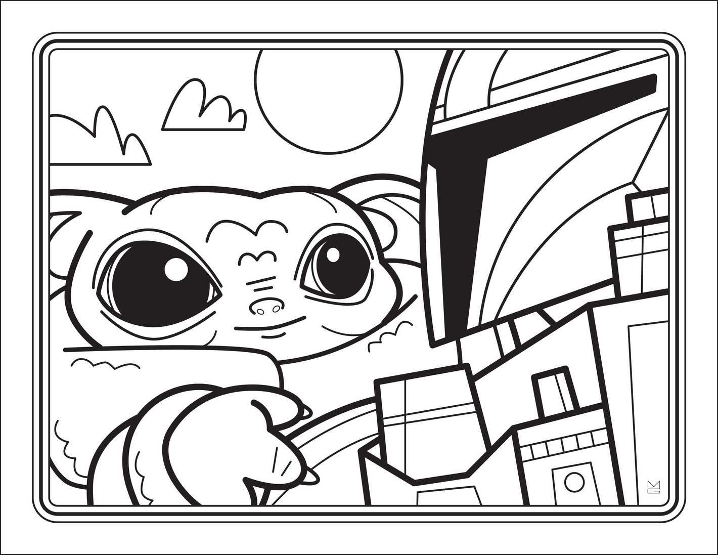 You Can Get A Free Downloadable Baby Yoda Coloring Book