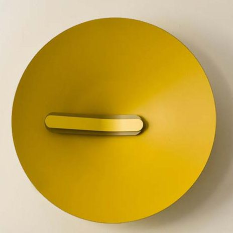 Tropical & beach inspired colors like this banana yellow modern clock $180