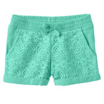 Toddler+Girl+Jumping+Beans+Lace-Front+Slubbed+Shorts