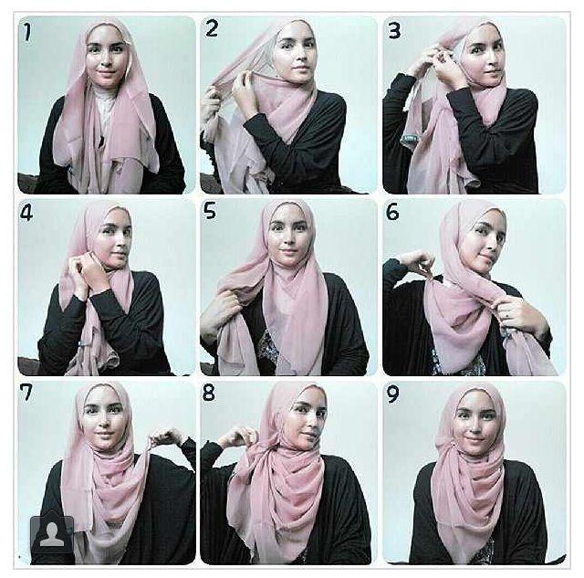 Pin Oleh Ratih Asriningpuri Di Hijab Tutorial Hijab