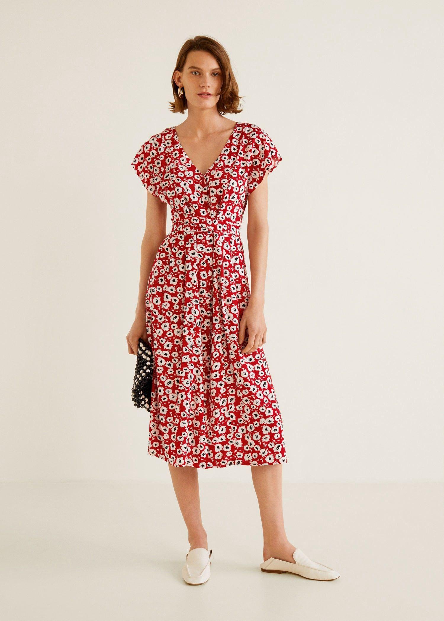 6b3d165fc6 Mango Flower Print Dress - Dark Navy 8