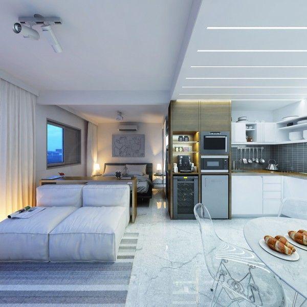 2 apartamentos decorados pequenos menos de 30 metros for Apartamentos decorados pequenos