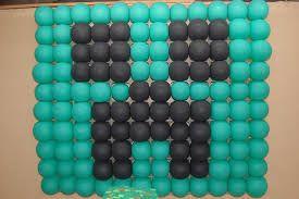 Resultado de imagem para arco de balões do minecraft para aniversario