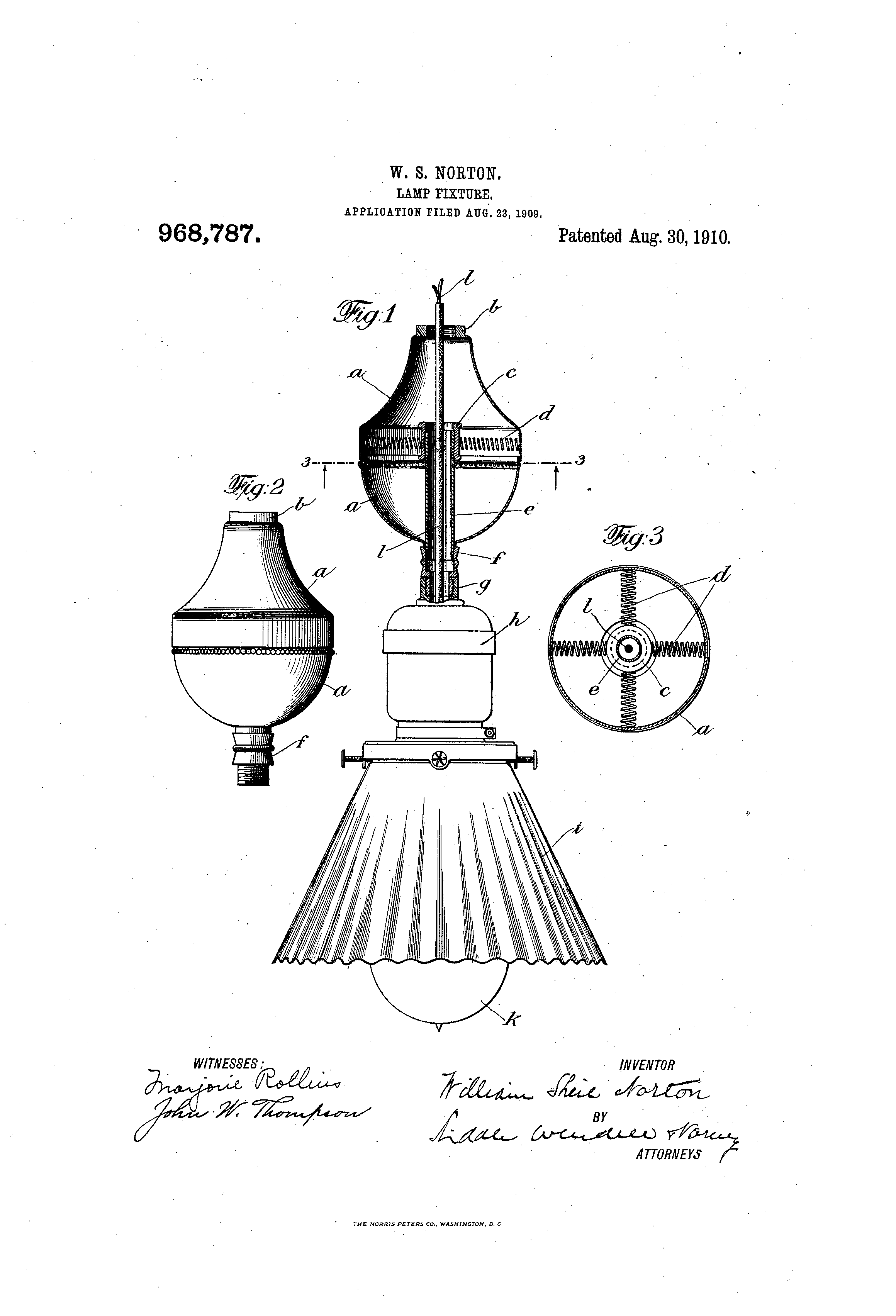 Lamp Fixture Patent From Lewis Howard Latimer Mar 21