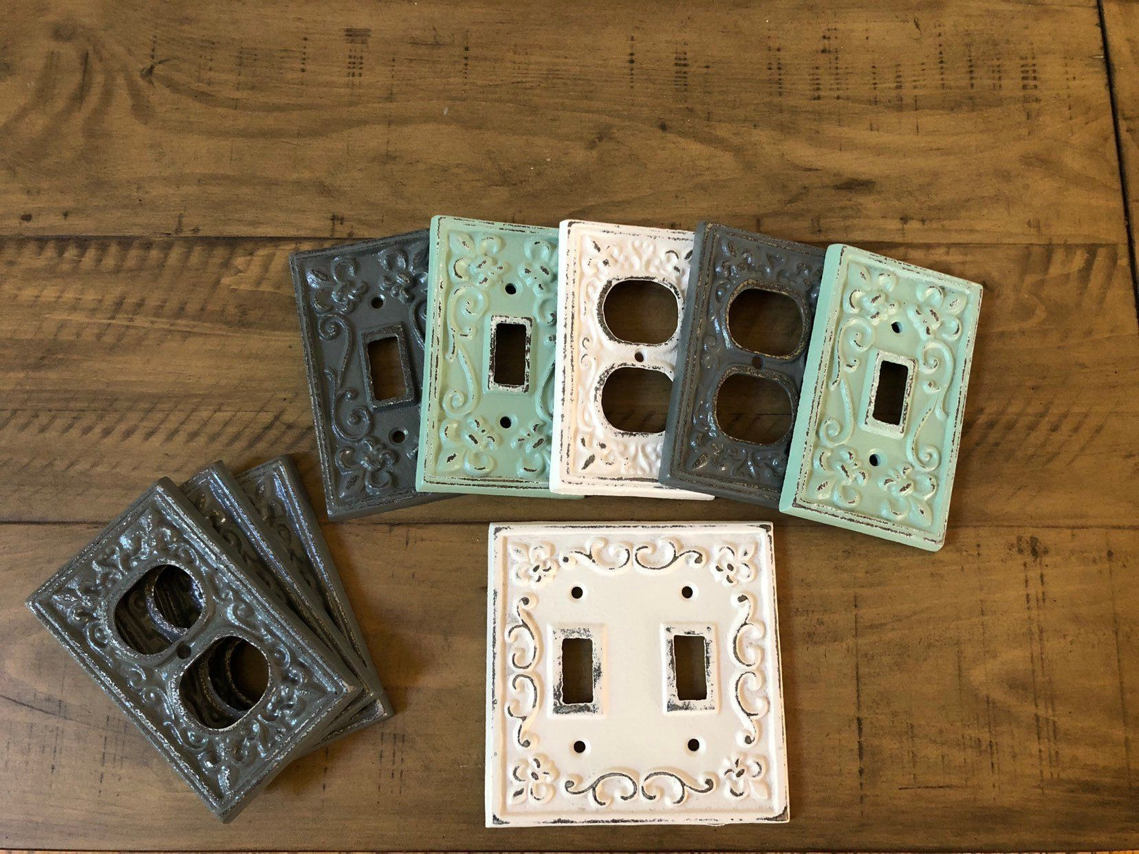 Light Switch Cover Double Light Switch Cast Iron Switch Light Light Switch Covers Light Switch Plates Shabby Chic Plates
