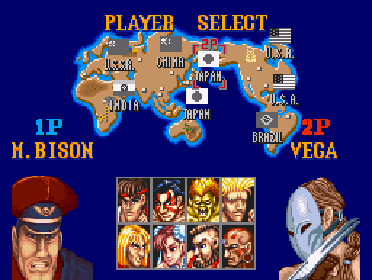 Street Fighter 2 The World Warrior Snes Notice Where 2p S