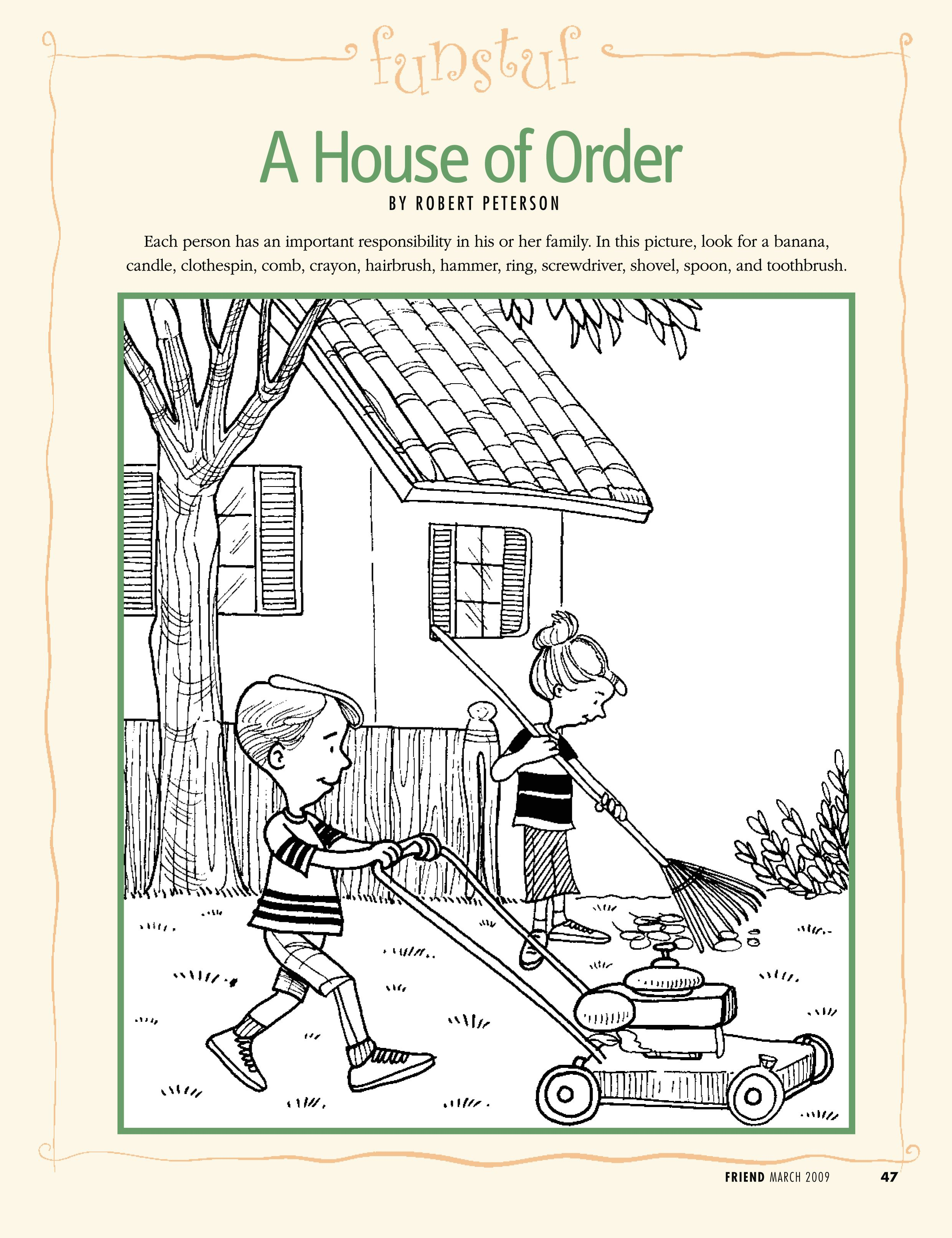 Lds Primary Coloring Pages Family Responsibility Lds Lesson