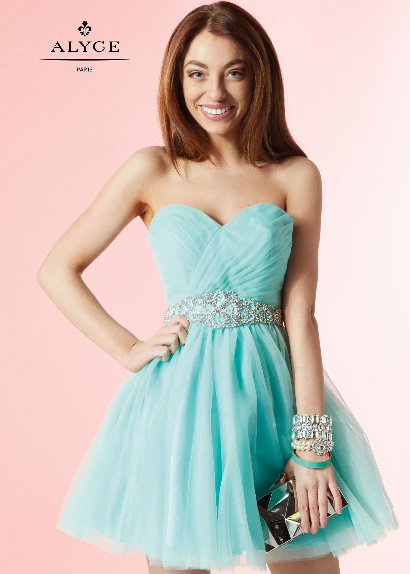 Alyce 3667 Strapless Tulle Party Dress | Homecoming 2015 | Pinterest ...