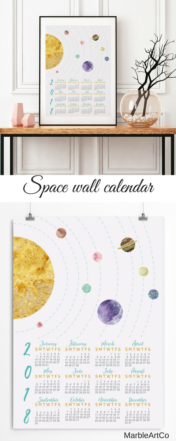 Wall calendars office gift for men coworker gift back to