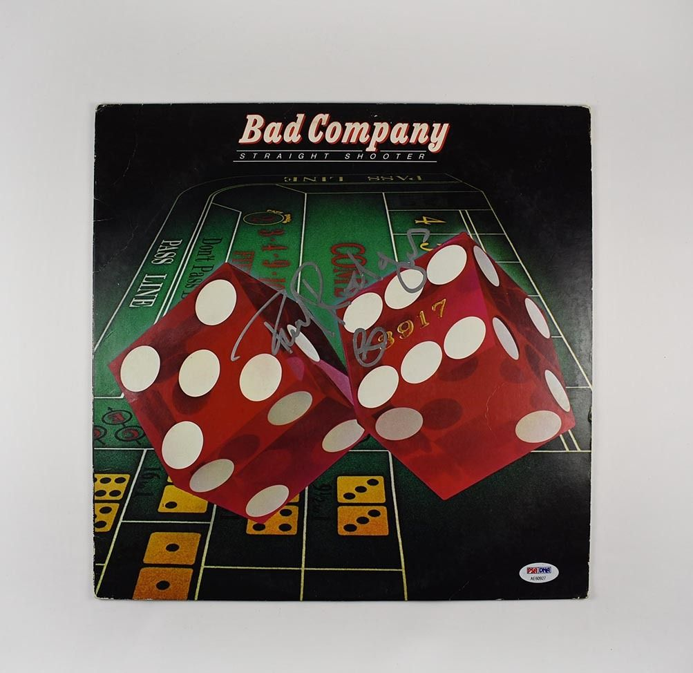 Paul Rodgers Bad Company Signed Record Album Lp Certified