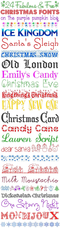 24 Fabulous And Free Christmas Fonts Christmas Fonts Free Christmas Fonts Scrapbook Fonts