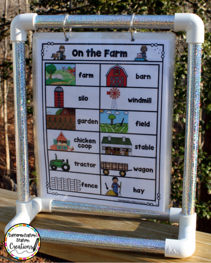 Mini Anchor Chart Stand Diy Differentiation Station Creations Portable Word Walls Diy Classroom Word Wall