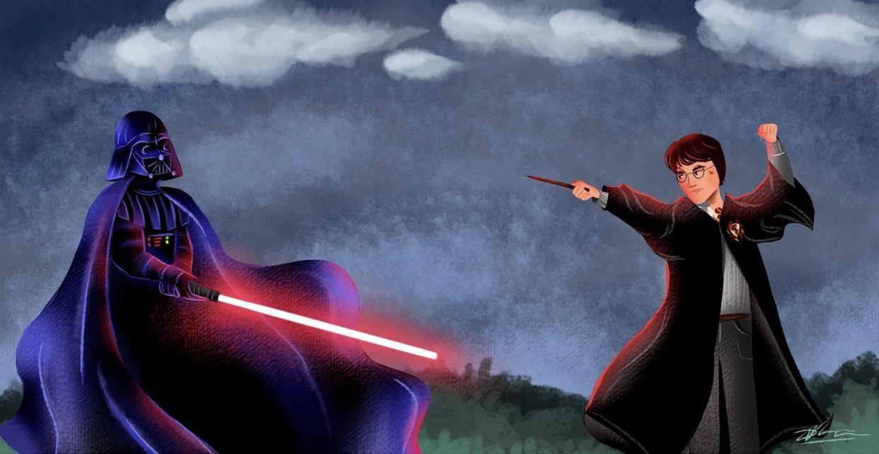 Illustrations By Dil Star Wars Darth Vader Vs Harry Potter Star Wars Darth Darth Vader Star Wars Darth Vader