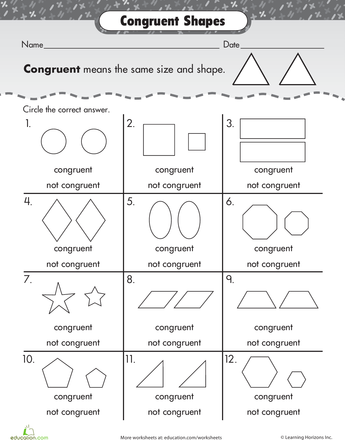 Shape Basics Congruent Shapes Pinterest Shapes Math And School
