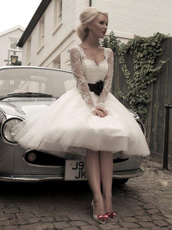 House Of Mooshki Zara Grey Wedding Dress Rockabilly Wedding Dresses Short Wedding Dress