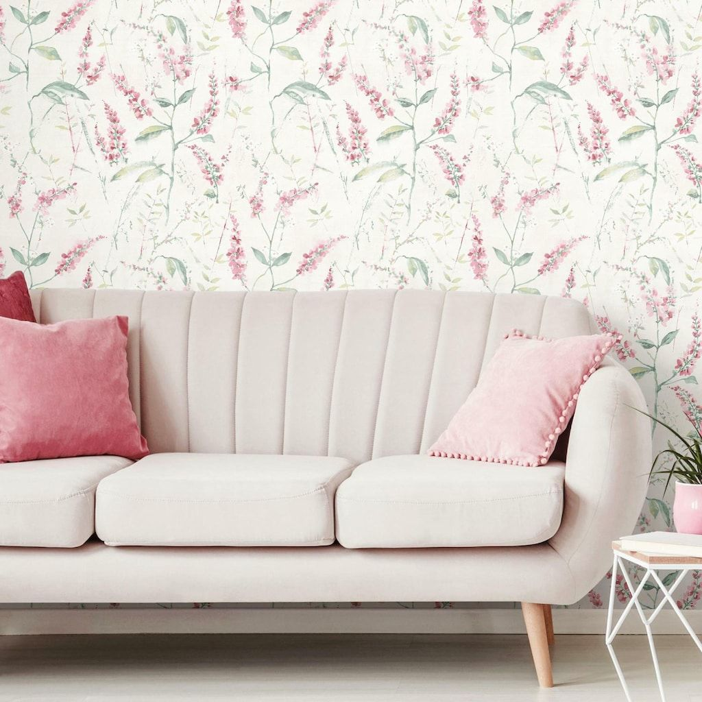 Roommates Floral Sprig Peel Stick Wallpaper Kohls Wall Coverings Decor Wall Decor Decals