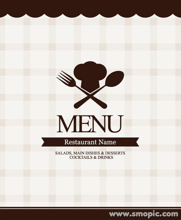 Free vector western restaurant menu recipes cover background design ...