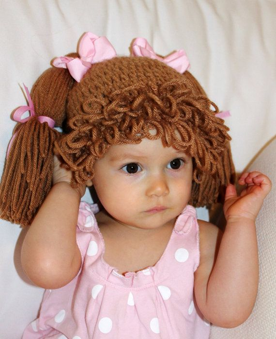 Cabbage Patch Doll Hat Crochet Pattern #dollhats