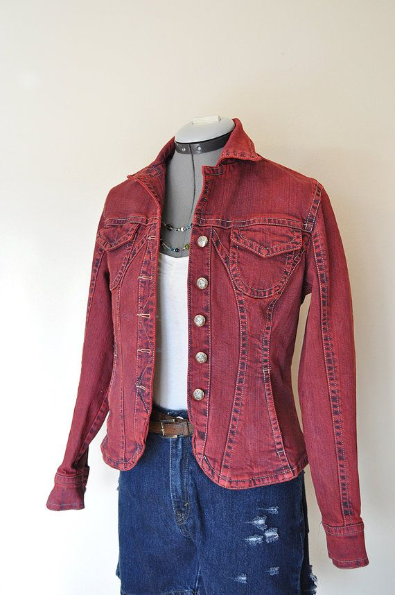 Upcycled Women/'s Denim Jacket-Size Small