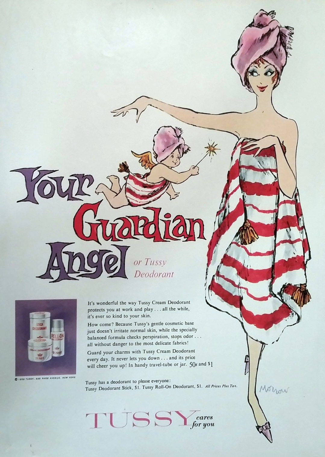 Tussy Deodorant 1960 (With images) Retro ads, Vintage