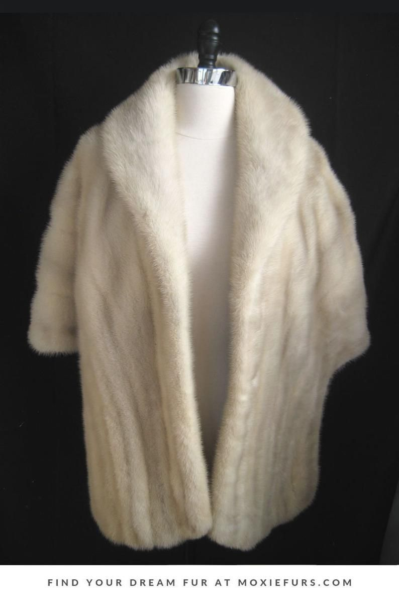 white fur stole paired - 736×1103