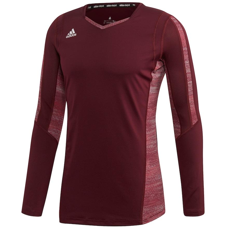 new product 6b96e b4b49 Women's adidas Quickset Long Sleeve Volleyball Jersey, Size ...