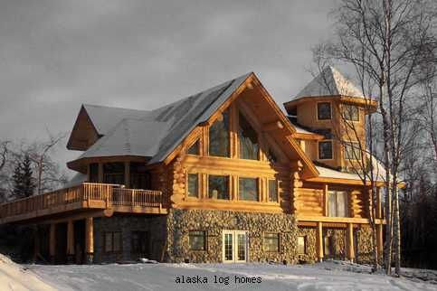 Alaska log homes i don 39 t that i would like living in for Alaska cabin builders