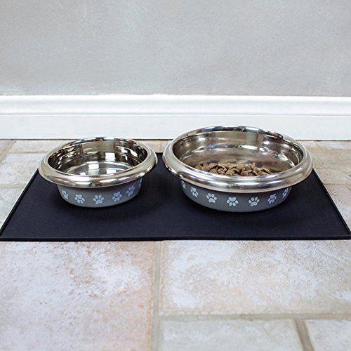 YK Waterproof Nonslip Square Silicone Pet Feeding Mat Food