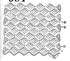 This pattern makes a beautiful baby blanket. You can put