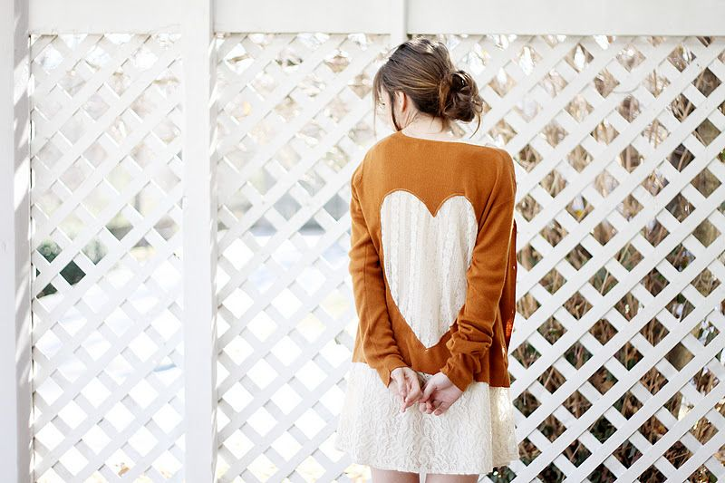 Sincerely, Kinsey: Lace Heart Cardigan | DIY - I'll definitely make this one come fall.