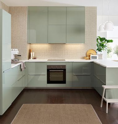 kallarp ikea kitchen ideas in 2019 ikea k che k che gr n ikea rh pinterest com ikea green kitchen doors ikea green kitchen island