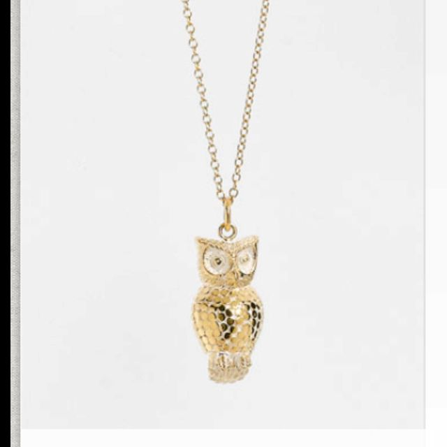 Anna Beck's owl pendant. present from my sis