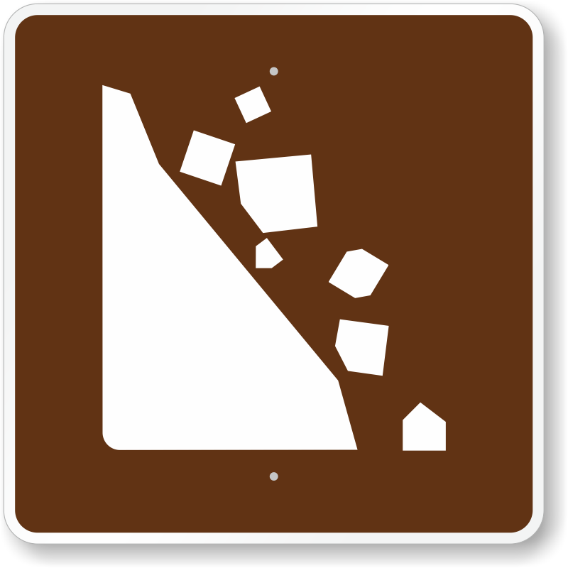 Falling Rocks, MUTCD Guide Sign For Campground, SKU: X-RS