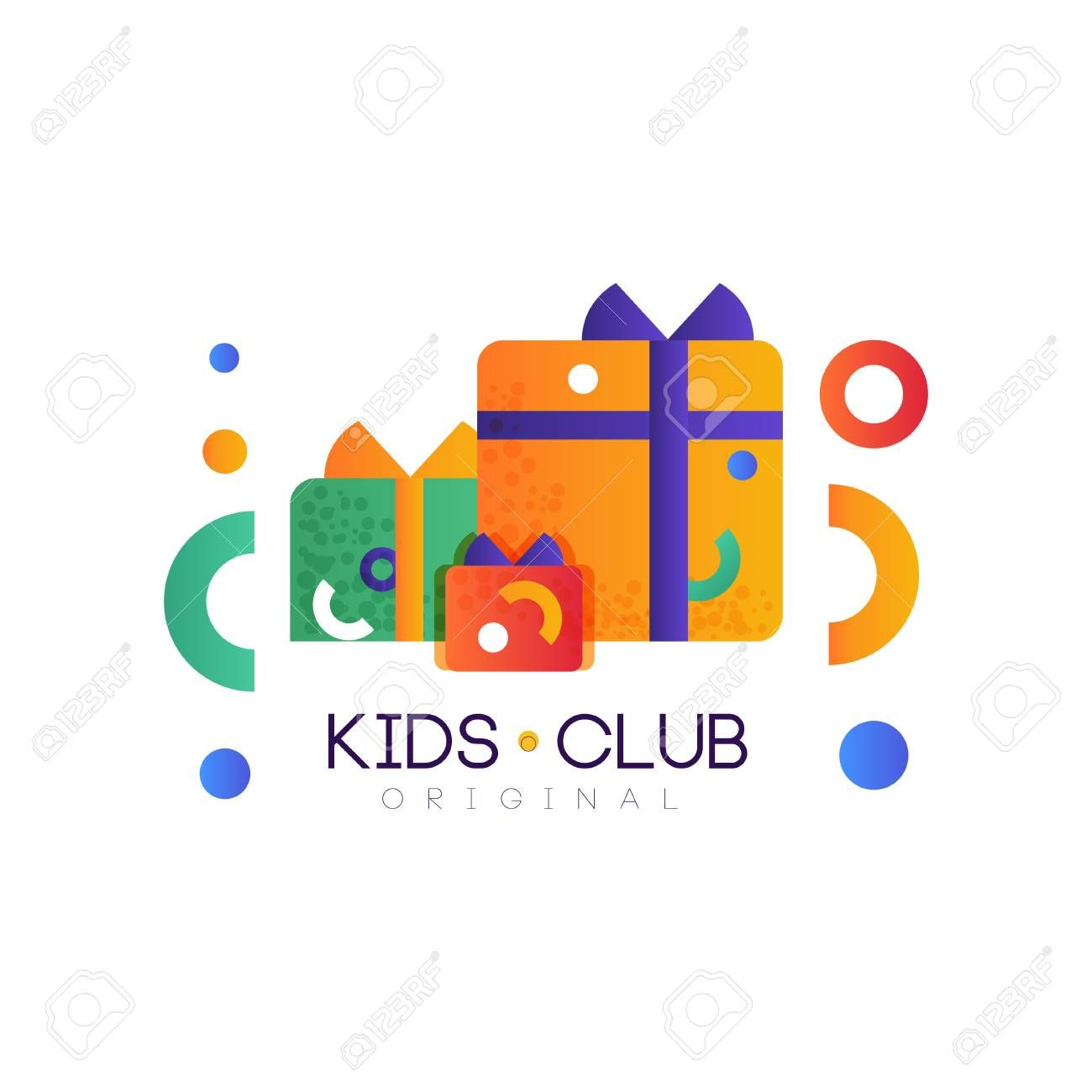 Kids Club Original Colorful Creative Label Template Playground
