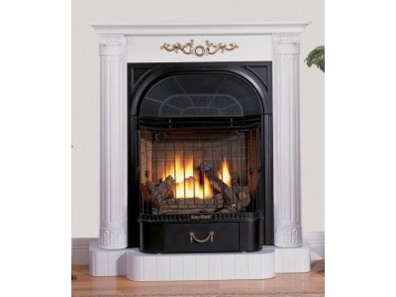 Image For Kozy World Gas Fireplace Buckingham White