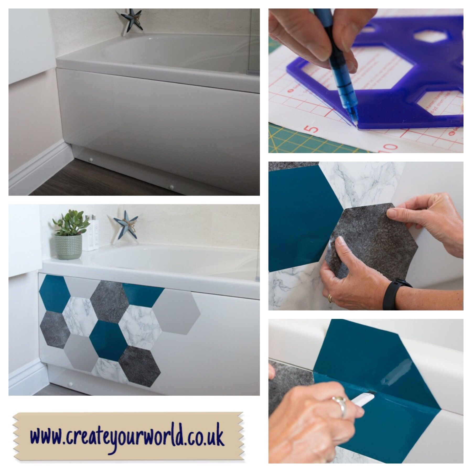 Bathroom Makeovers Using Sticky
