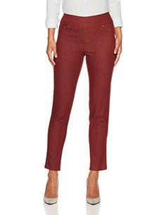 Ruby Rd Womens Petite Size Pull-on Colored Extra Stretch Denim Pant