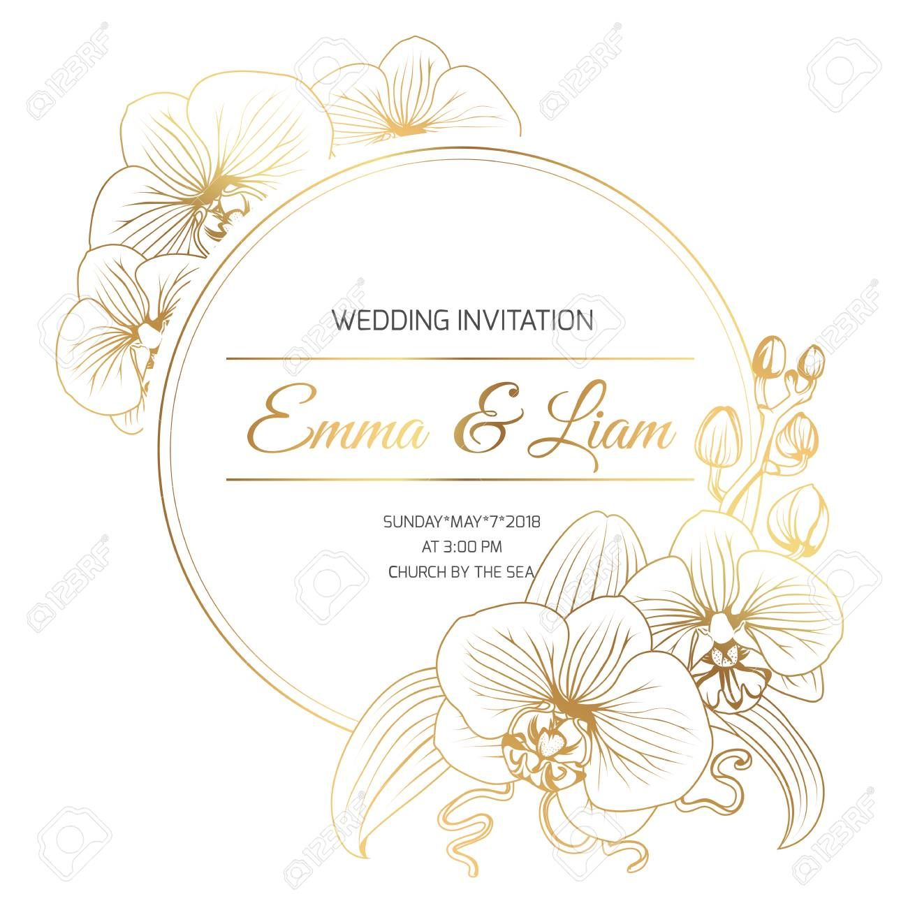 Phalaenopsis Orchid Flowers Border Frame Decoration Wedding Marriage Event Invitation Template Modern Lu Event Invitation Templates Flower Border Frame Decor,Beautiful Master Bedroom Designs For Girls