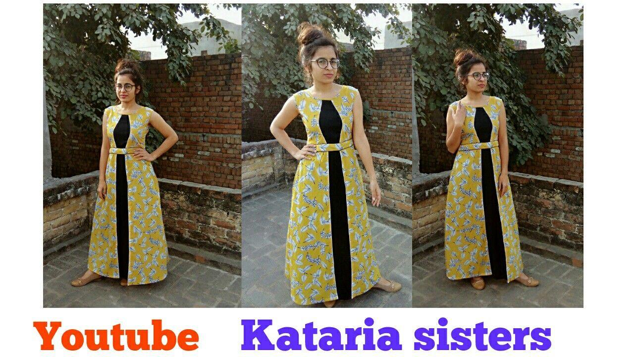 3bc1e4eefc Udaan style kurti , designer a line kurti , kataria sisters , youtube